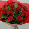 12 Red Rose Handtied Bouquet